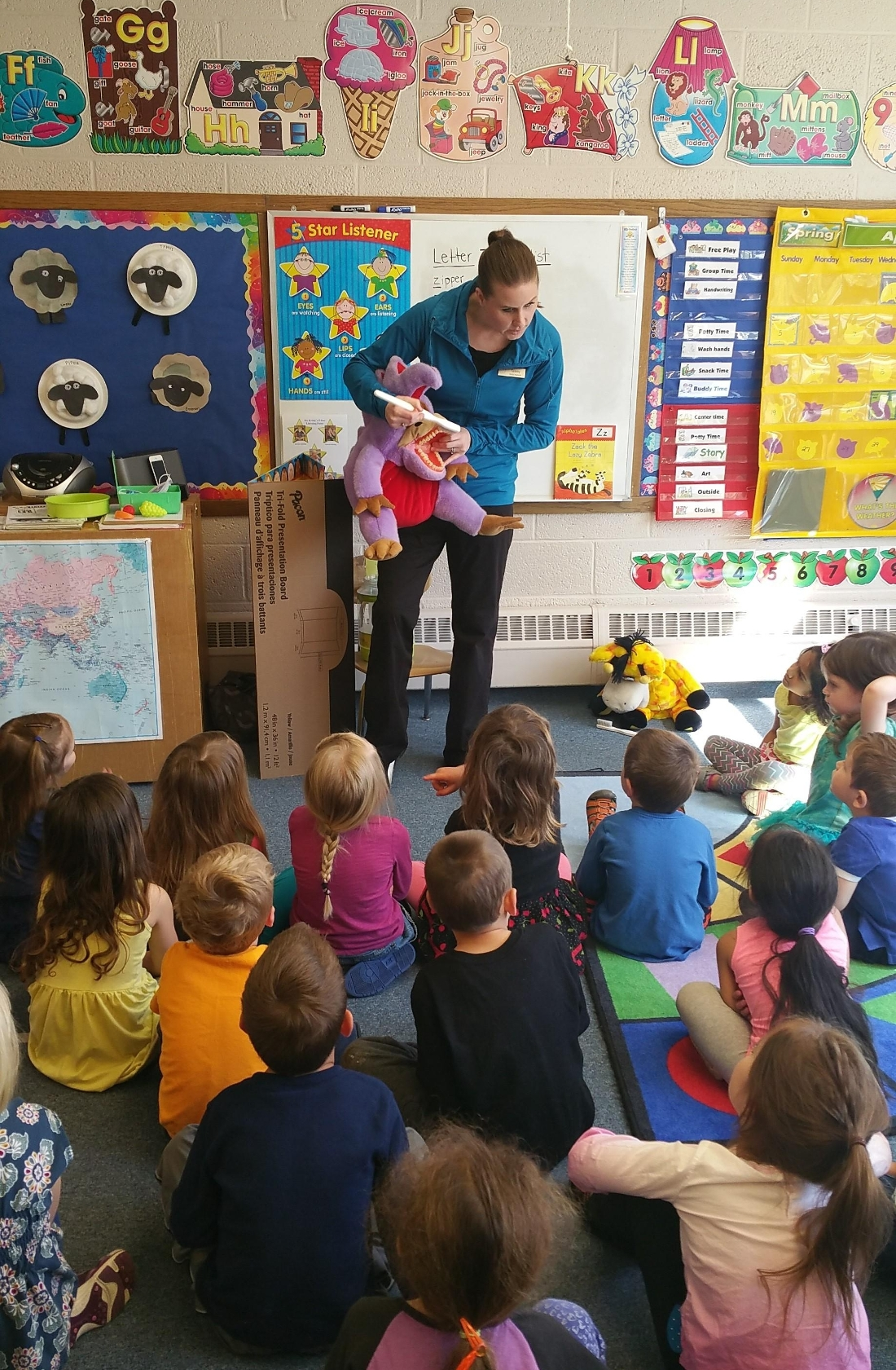 Oral health presentation to a preschool group in town