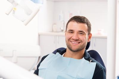 Man at dentist with a dental emergency in white bear lake mn