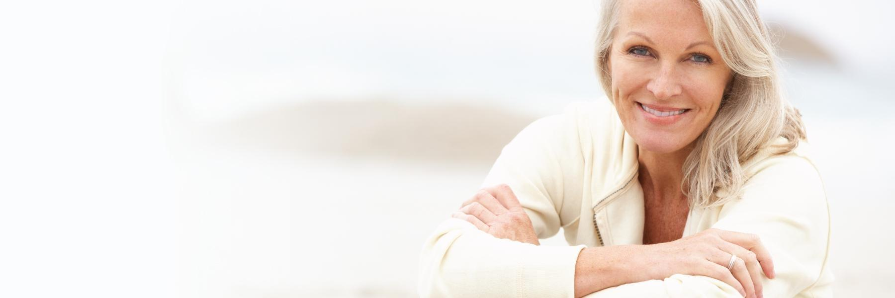 Woman with dental implants in White Bear Lake