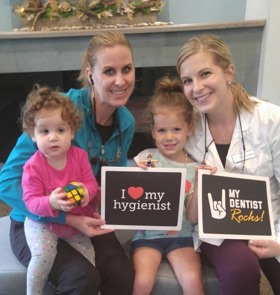 A happy family of patients at White Bear Smiles in White Bear Lake, MN