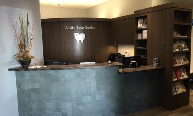 The front desk at White Bear Smiles in White Bear Lake, MN